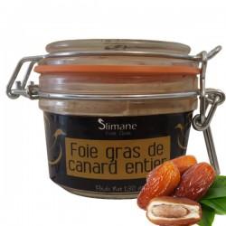 Spécialité de foie gras de canard entier  aux dattes 130 g
